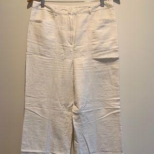 Heavy Linen Lined Wide Leg Boho Pants